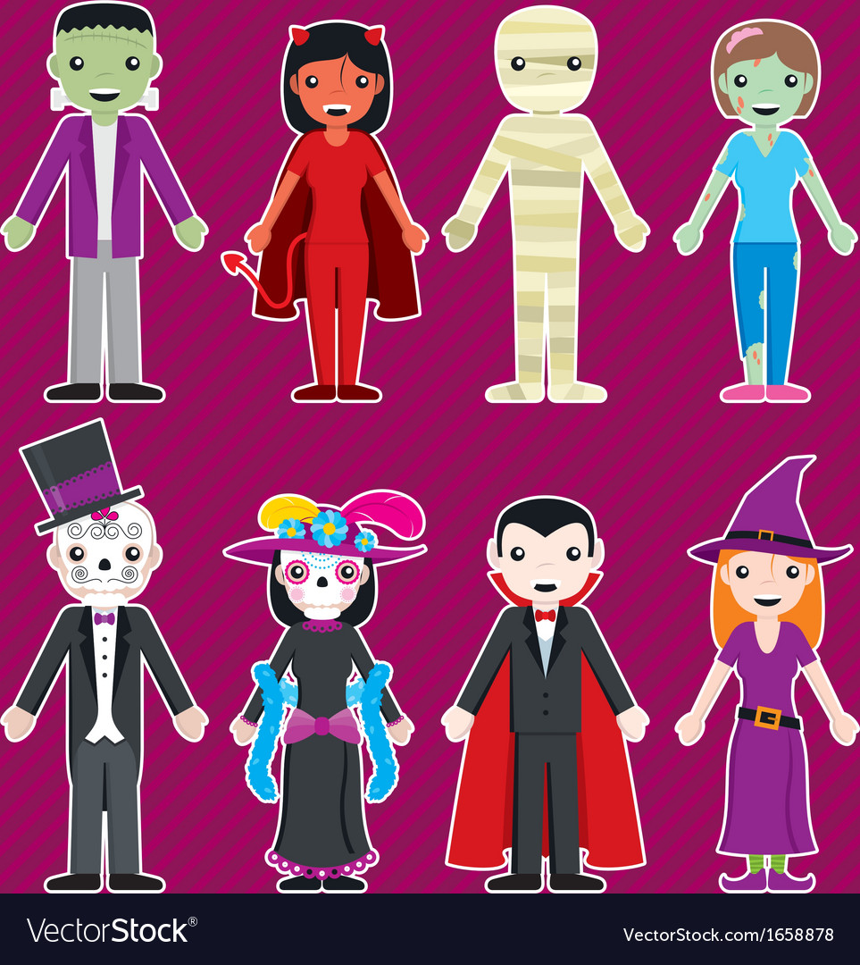 Halloween customes vector