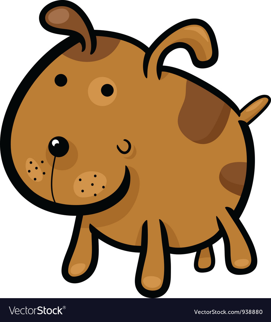 Cartoon of cute spotted dog vector