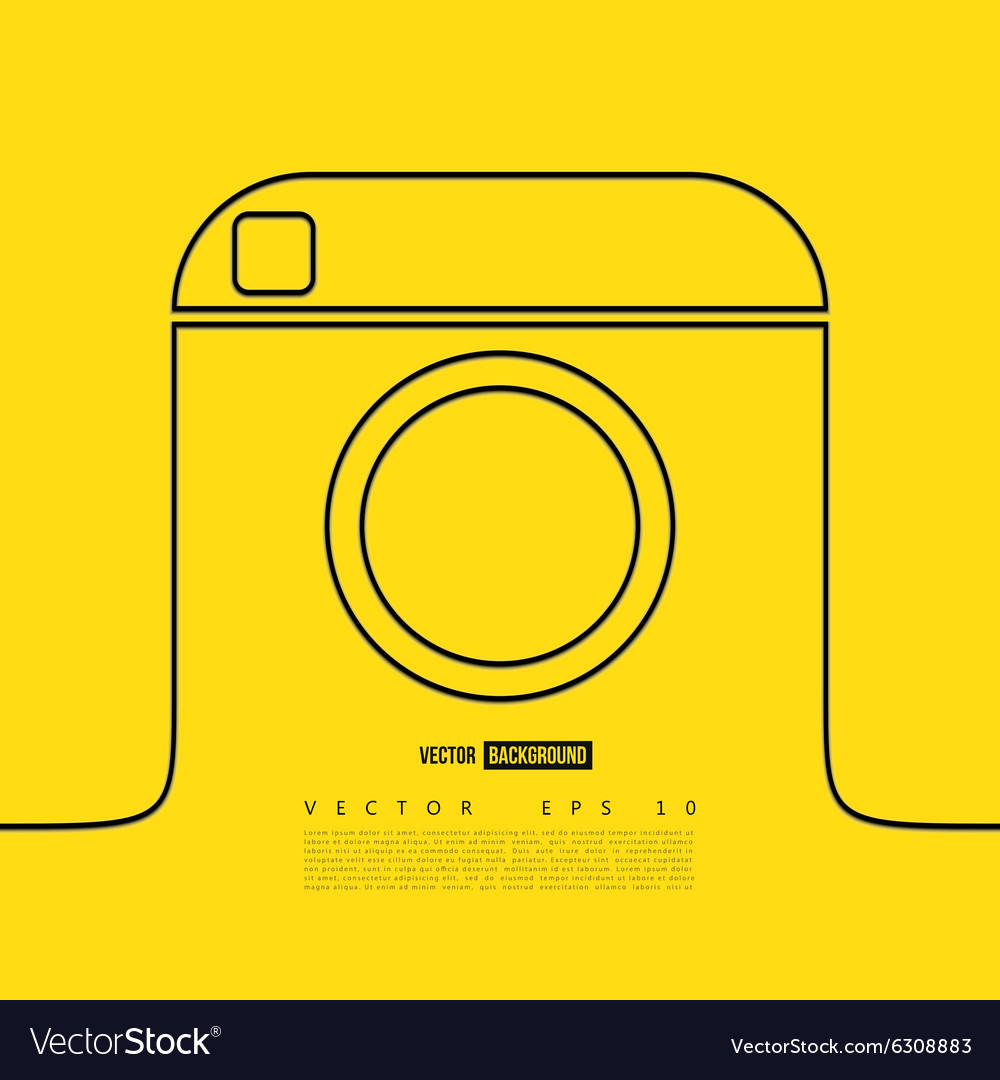 Line camera photo instagram vector