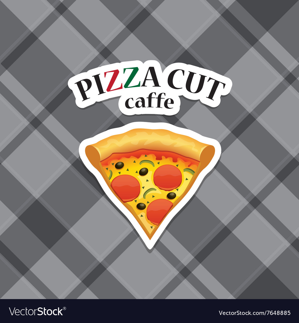 Piece of pizza realistic icon vector