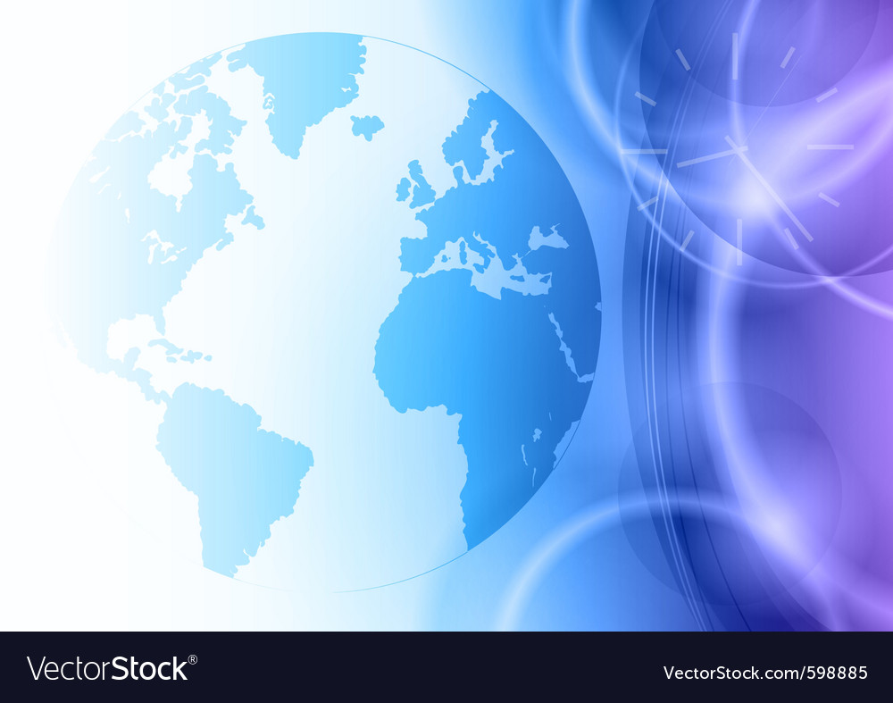World on the blue background vector