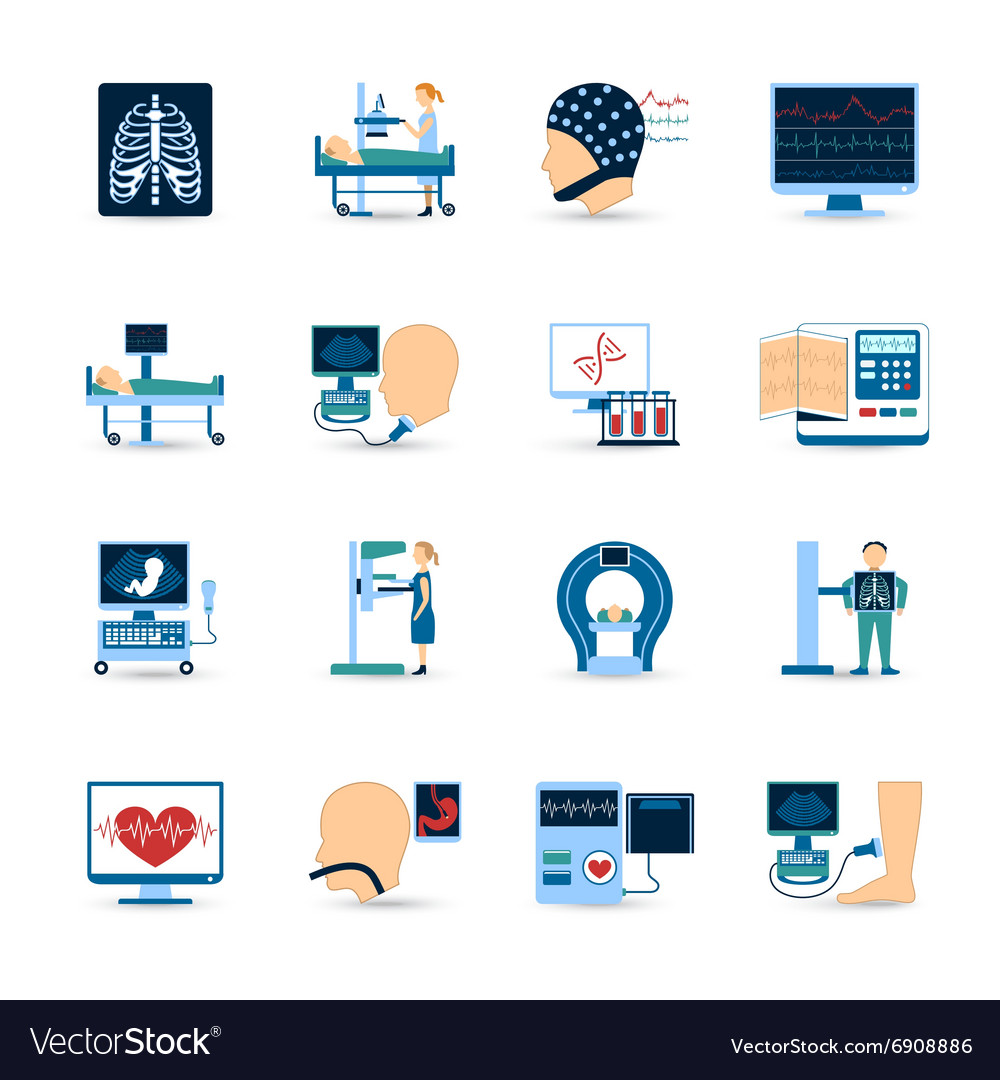 Medical examination icons set vector