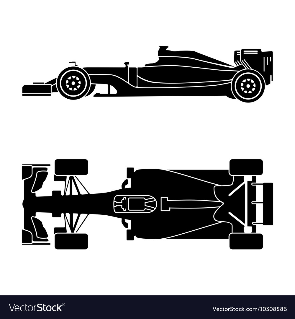 Silhouette of a racing car vector