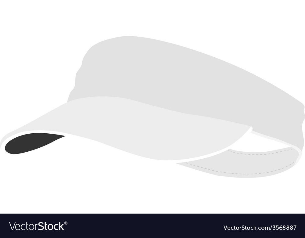 White tennis cap vector