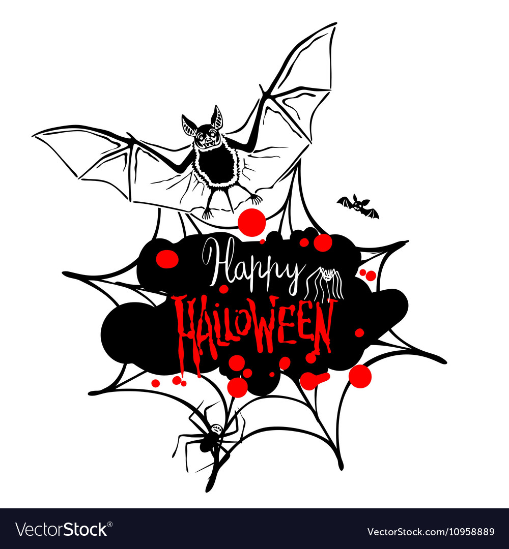 Happy halloween message design background eps 10 vector