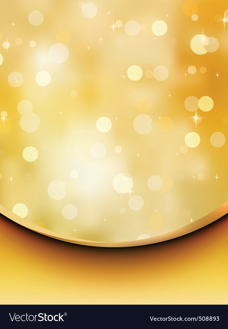Gold glitter on a light orange background eps 8 vector