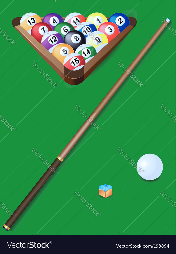 Set for billiards vector