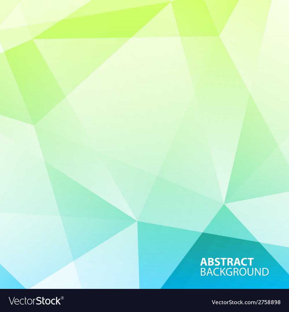 Abstract blue  green geometric background vector