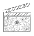 Clapperboard coloring vector image