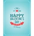 valentines day retro vintage background vector image