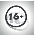 16 plus sign sticker curved vector image vector image