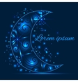 Greeting card with pattern on a crescent moon and vector image vector image