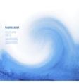 Blue watercolor background sea wave vector image