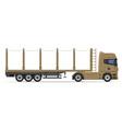 truck semi trailer 11 vector image