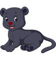 cute black panther cartoon vector image