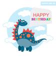 happy birthday dragon vector image