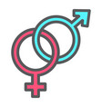 heterosexual filled outline icon valentines day vector image