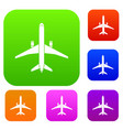 plane set collection vector image