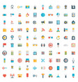 set of 100 social media icons flat design - part vector image
