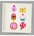 Sweets - doodles collection vector image