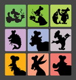 Chef Silhouette Symbols vector image vector image