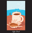cup of coffee on the beach with shells vector image