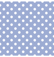 Seamless pattern with white polka dots on blue Vector Image