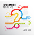 question mark infographic report template vector image vector image