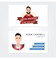Business cards design of a lumberjack and vector image
