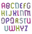 Childish striped font handwritten watercolor vector image