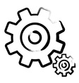 Cog - Gear Icons Set Isolated on White Background vector image vector image