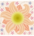 Big flower pattern vintage vector image