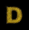 gold dust font type letter d vector image