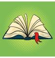 hand drawn pop art of book Open book vector image