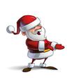 Happy Santa Presenting vector image