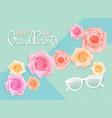 horizintal card for grandparents vector image