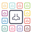 nose flat icons set vector image