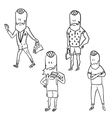 Stylish hipster man doodle set vector image