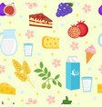 shavuot seamless pattern backgraund vector image