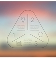 Circle line triangle infographic Template for vector image vector image