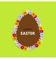egg with flowers on a white vector image vector image