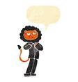 cartoon lion businessman with speech bubble vector image