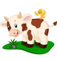 cute cow cartoon vector image