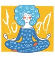 cute yoga lady Modern vector image