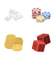 domino bones stack of chips a pile of mont vector image