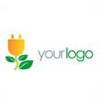 eco electric energy logo vector image