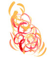 flower style smoke line vector image