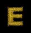gold dust font type letter e vector image