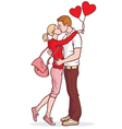 Lovers kissing couple vector image