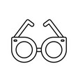 round glasses accessory trendy fashion outline vector image